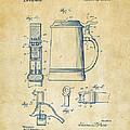 1914 Beer Stein Patent Artwork - Vintage by Nikki Marie Smith
