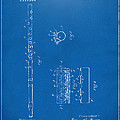 1914 Flute Patent - Blueprint by Nikki Marie Smith