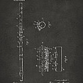 1914 Flute Patent - Gray by Nikki Marie Smith