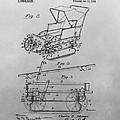1914 Go Cart Patent Drawing by Dan Sproul