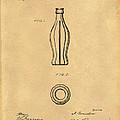 1915 Coca Cola Bottle Design Patent Art 5 by Nishanth Gopinathan