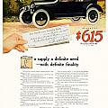 1916 - Willys Overland Roadster Automobile Advertisement - Color by John Madison