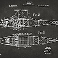 1917 Glenn Curtiss Aeroplane Patent Artwork 2 - Gray by Nikki Marie Smith