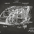 1917 Glenn Curtiss Aeroplane Patent Artwork 3 - Gray by Nikki Marie Smith