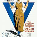 1918 - Ywca Patriotic Poster - World War One - Color by John Madison