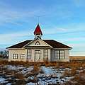 1918 Schoolhouse Macabe Montana by Jeff Swan