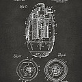 1919 Hand Grenade Patent Artwork - Gray by Nikki Marie Smith
