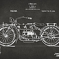 1919 Motorcycle Patent Artwork - Gray by Nikki Marie Smith