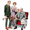 1920 - Life Magazine Cover - Engagement - J F Kernan - January 29 - Color by John Madison