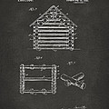 1920 Lincoln Log Cabin Patent Artwork - Gray by Nikki Marie Smith