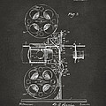 1920 Motion Picture Machine Patent Gray by Nikki Marie Smith