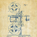 1920 Motion Picture Machine Patent Vintage by Nikki Marie Smith