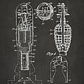 1921 Explosive Missle Patent Minimal Gray by Nikki Marie Smith