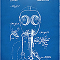 1921 Gas Mask Patent Artwork - Blueprint by Nikki Marie Smith