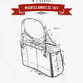 1921 Trout Basket Patent Drawing - Red by Aged Pixel