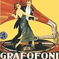 1922 - Columbia Gramophone Company Italian Advertising Poster - Color by John Madison