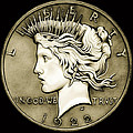1922 Circulated Peace Dollar by Fred Larucci