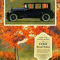 1923 - Cole Royal Sedan - Advertisement - Color by John Madison