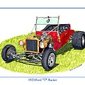 T Bucket Ford 1923 by Jack Pumphrey