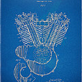 1923 Harley Davidson Engine Patent Artwork - Blueprint by Nikki Smith