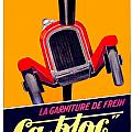 1924 - Ca-bloc Brakes French Advertisement Poster - Color by John Madison