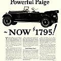 1924 - Paige Automobile Advertisement by John Madison