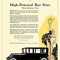 1924 - Reo Six Automobile Advertisement - Color by John Madison