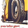1924 - Dunlop Tires French Advertisement Poster - Color by John Madison