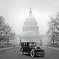 1924 Ford Lincoln At U. S. Capitol by Daniel Hagerman