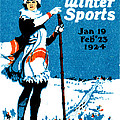1924 Montreal Winter Sports Poster by Historic Image