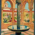 1925 Monreale Vintage Travel Art by Presented By American Classic Art