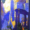 1926 - New York Central Railroad - Chicago Travel Poster - Color by John Madison