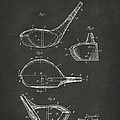 1926 Golf Club Patent Artwork - Gray by Nikki Marie Smith