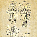 1928 Cork Extractor Patent Art - Vintage Black by Nikki Marie Smith