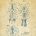 1928 Cork Extractor Patent Artwork - Vintage by Nikki Marie Smith