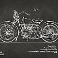 1928 Harley Motorcycle Patent Artwork - Gray by Nikki Marie Smith