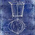 1928 Milk Pail Patent Drawing Blue by Jon Neidert
