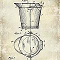 1928 Milk Pail Patent Drawing by Jon Neidert