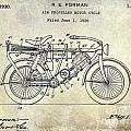 1928 Motorcycle Patent Drawing by Jon Neidert