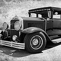 1929 Buick Black And White by Steve McKinzie