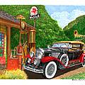 1929 Cadillac Dual Cowl Phaeton And Pegasus by Jack Pumphrey