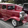 1929 Chevrolet Classic Car Automobile Color Red 3132.02 by M K Miller