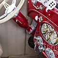 1929 Chevrolet Classic Car Automobile Dashboard Color Red  3130. by M K Miller