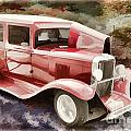 1929 Chevrolet Classic Car Painting Automobile In Color  3125.02 by M K Miller