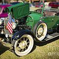 1929 Ford Classic Antique Automobile In Green Color  3052.02 by M K Miller