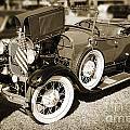 1929 Ford Classic Antique Automobile In Sepia  3052.01 by M K Miller