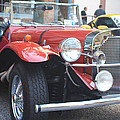 1929 Mercedes Benz Front And Side View by John Telfer