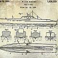 1930 Ship's Hull Patent Drawing by Jon Neidert