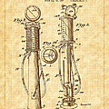 1930 Classic Gas Pump Patent - Automotive - Historical by Barry Jones