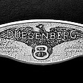 1930 Duesenberg Model J Lwb Dual Cowl Phaeton Emblem -2977bw by Jill Reger